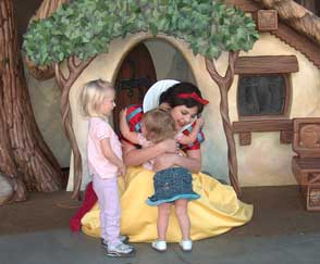 hugging snow white Disneyland Trip To Remember