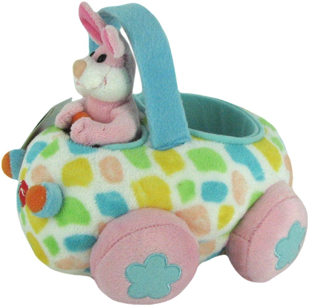 Plush Bunny Basket