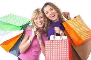 girlfriends  on shopping