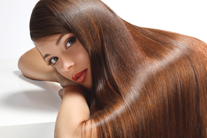 High quality image. Woman with smooth hair