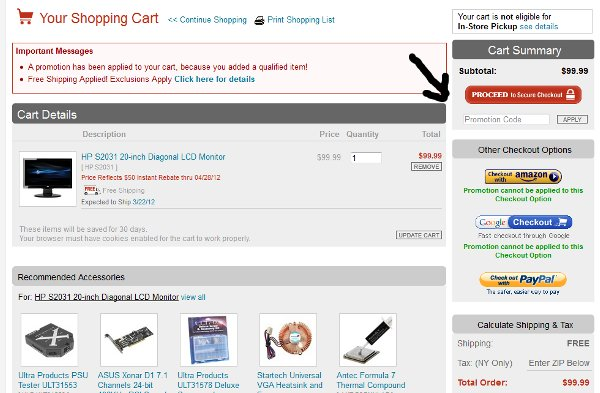 Demonstrates how to enter a coupon code on the JR.com website checkout.