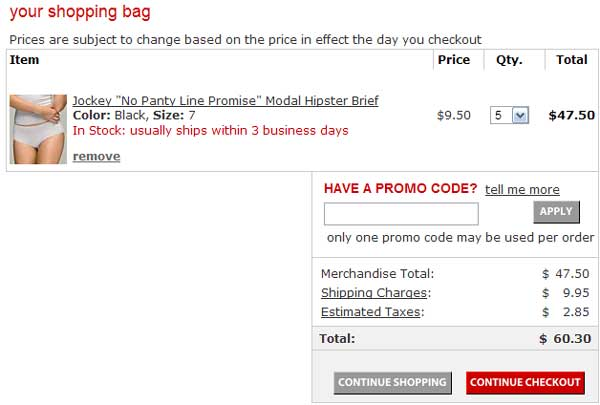 Demonstrates how to enter a coupon code on the Macy's website checkout.