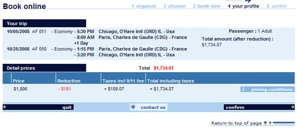 Demonstrates how to enter a coupon code on the Air France USA website checkout.