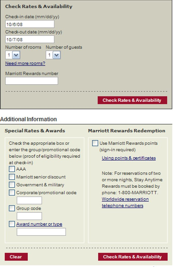 Demonstrates how to enter a coupon code on the Marriott Hotels website checkout.