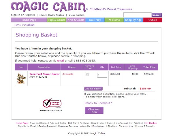 Demonstrates how to enter a coupon code on the Magic Cabin website checkout.