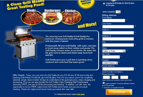 Demonstrates how to enter a coupon code on the Grill Daddy website checkout.