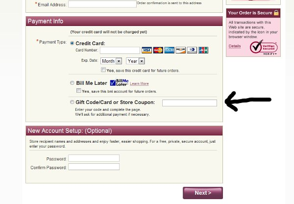 Demonstrates how to enter a coupon code on the World Book Store website checkout.