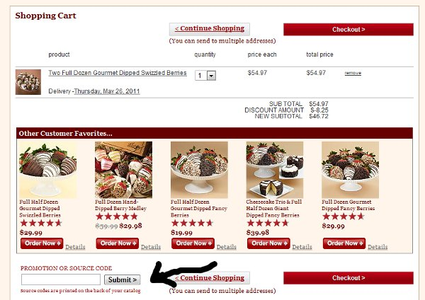 What is the biggest saving you can make on Shari's Berries? The biggest saving reported by our customers is $ How much can you save on Shari's Berries using coupons? Our customers reported an average saving of $5. Is Shari's Berries offering Christmas sales? Yes, Shari's Berries has 3 active special Christmas offers.