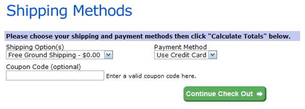 Demonstrates how to enter a coupon code on the Shoeline.com website checkout.
