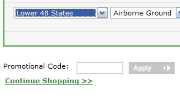 Demonstrates how to enter a coupon code on the Nuance website checkout.