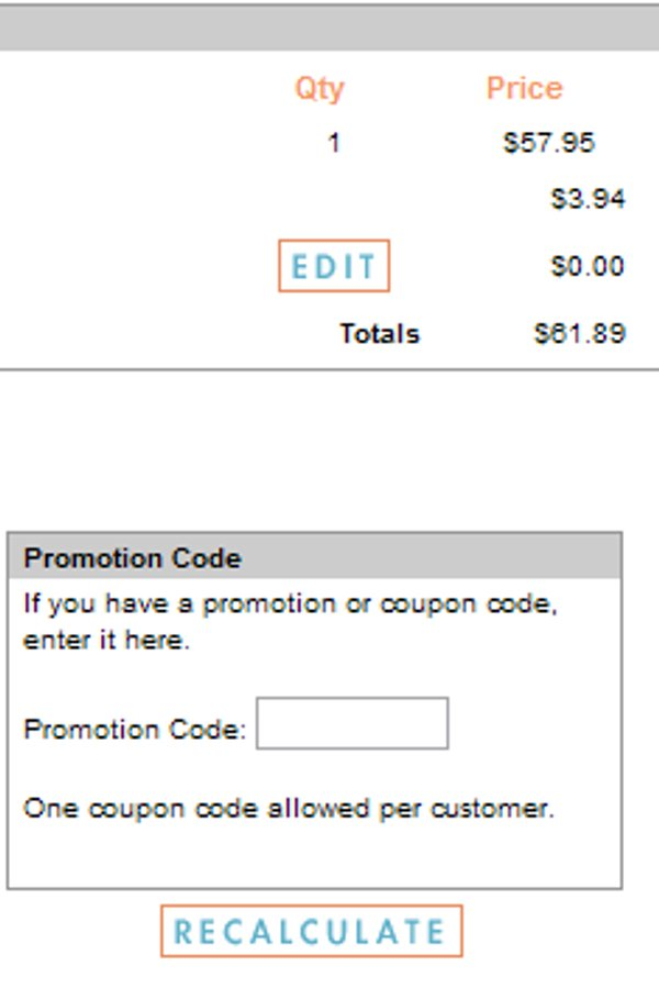 Demonstrates how to enter a coupon code on the SkinCareRX website checkout.